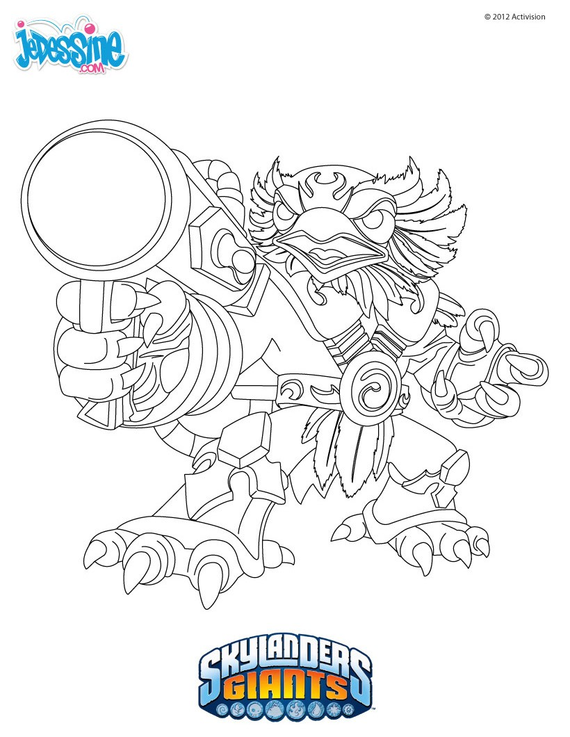 Coloriages coloriage jet vac - Coloriage skylanders giants ...