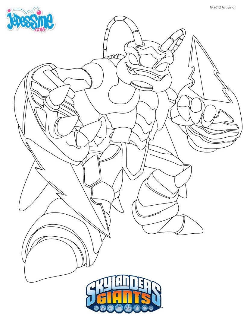 Coloriage SKYLANDERS GIANTS - Coloriage SWARM