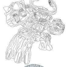 Coloriage TREE REX - Coloriage - Coloriage SKYLANDERS GIANTS
