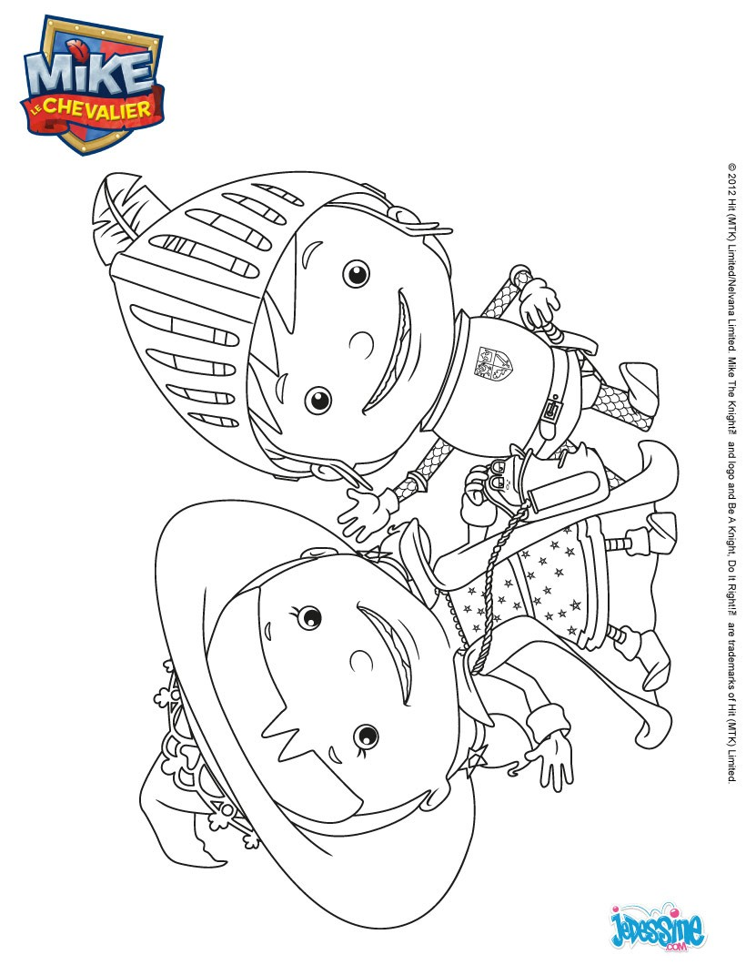 Coloriage mike le chevalier elvie et mike colorier - Coloriage mike le chevalier ...