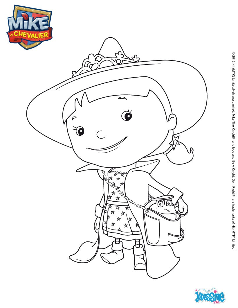 Coloriages elvie colorier - Coloriage mike le chevalier ...