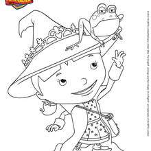 Coloriage gratuit ELVIE - Coloriage - Coloriage DESSINS ANIMES - Coloriage MIKE LE CHEVALIER