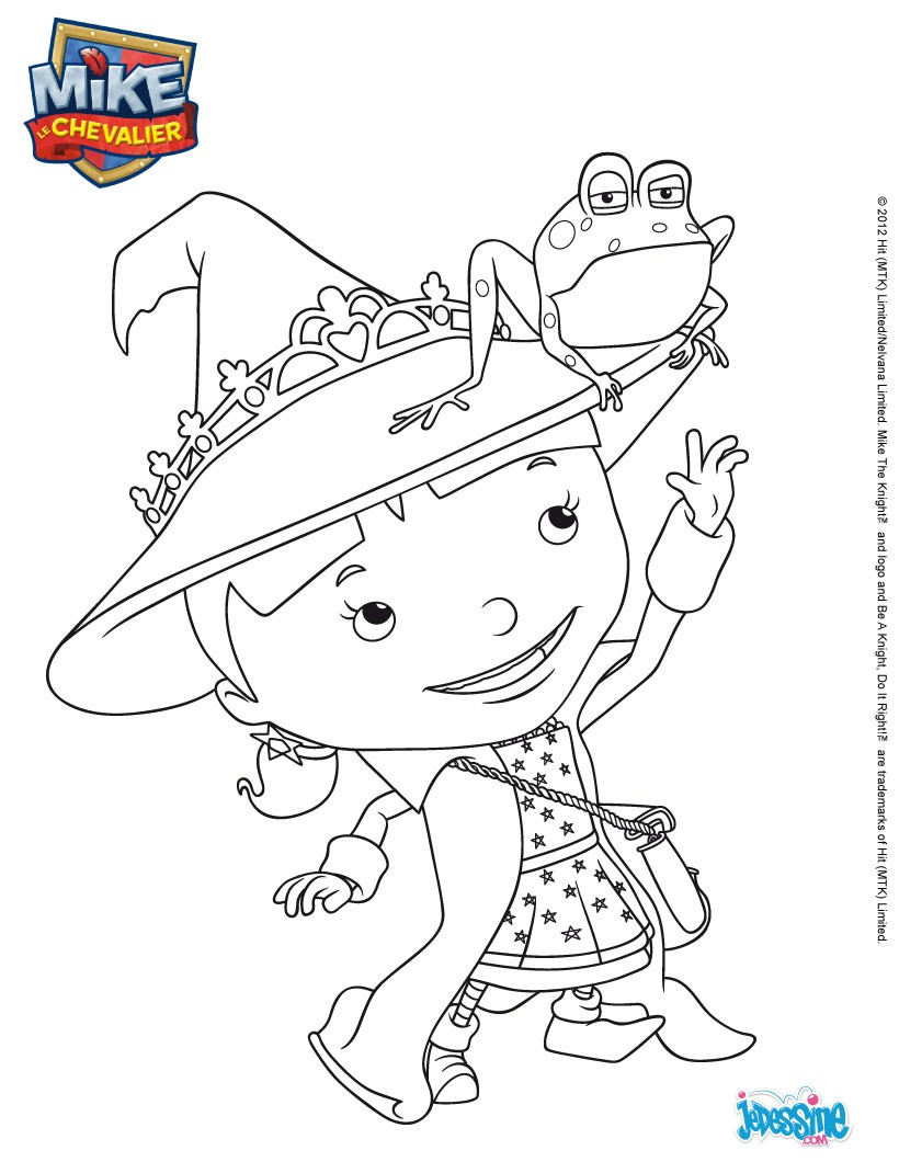 Coloriages coloriage gratuit elvie - Coloriage mike le chevalier ...