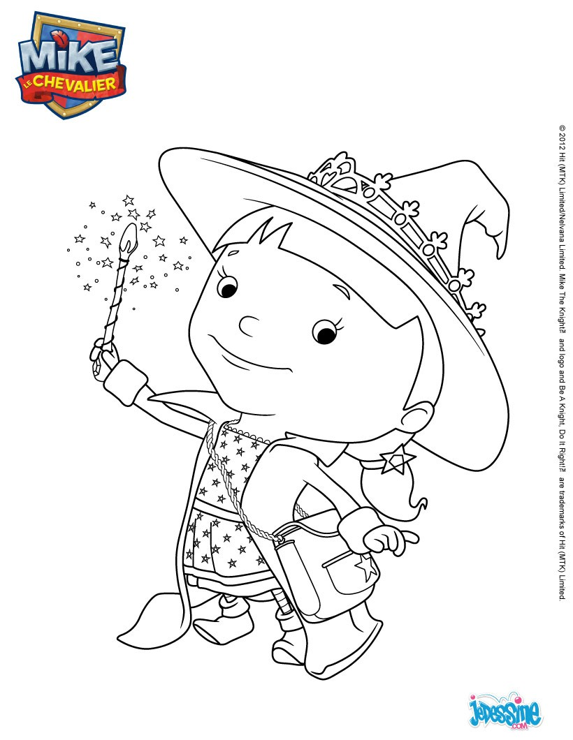 Coloriages coloriage elvie - Coloriage mike le chevalier ...