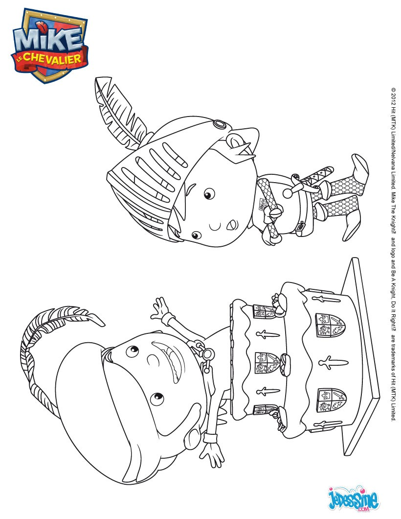 Coloriage mike le chevalier coloriage fernando et mike - Coloriage mike le chevalier ...