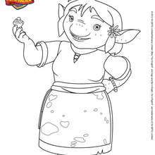 Coloriage MAMAN TROLL - Coloriage - Coloriage DESSINS ANIMES - Coloriage MIKE LE CHEVALIER
