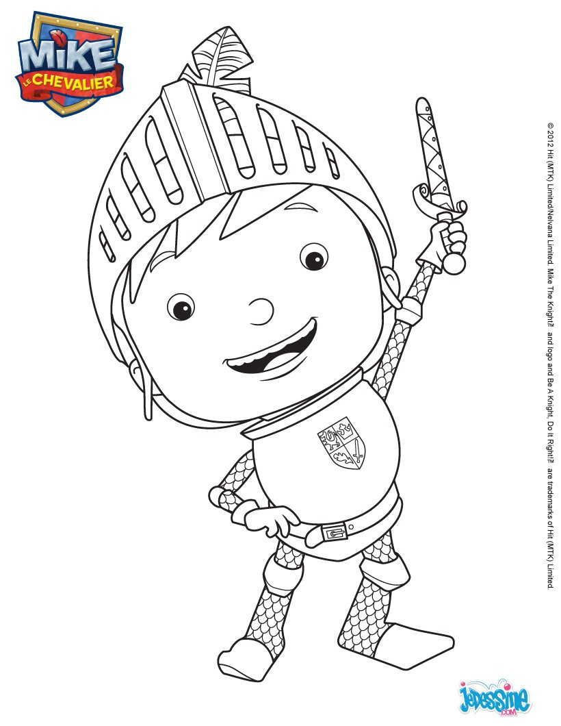 Coloriages coloriage en ligne mike - Coloriage mike le chevalier ...