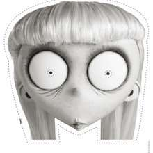 Masque à imprimer : La fillette étrange de Frankenweenie