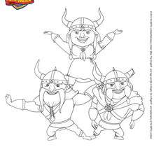 Coloriage VIKINGS