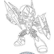 Coloriage CHILL - Coloriage - Coloriage SKYLANDERS GIANTS