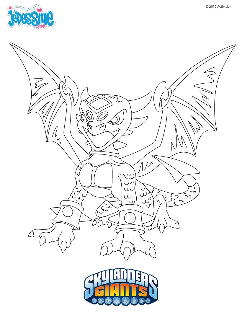 Coloriages coloriage cynder - Coloriage skylanders giants ...