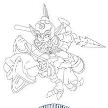 Coloriage FRIGHT RIDER - Coloriage - Coloriage SKYLANDERS GIANTS