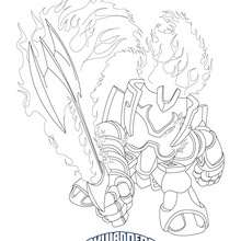 Coloriage IGNITOR - Coloriage - Coloriage SKYLANDERS GIANTS