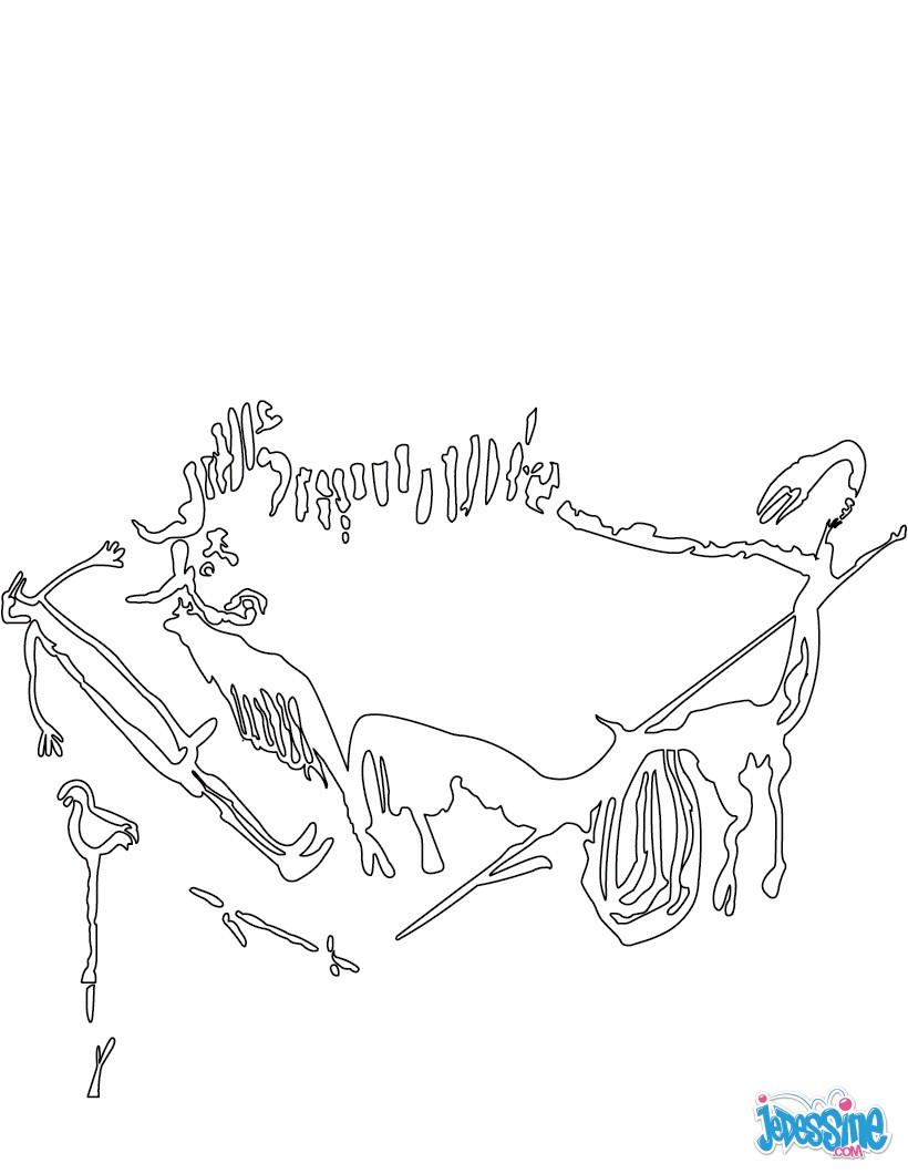 coloriages coloriage de peinture rupestre  frhellokids
