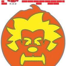 Masque de citrouille à découper - Coloriage - Coloriage FILMS POUR ENFANTS - Coloriage LES MONDES DE RALPH