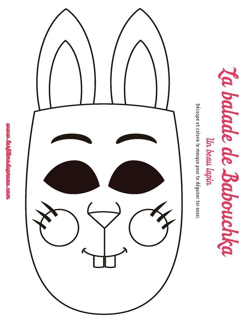 Jeux de masque de lapin à découper - fr.hellokids.com