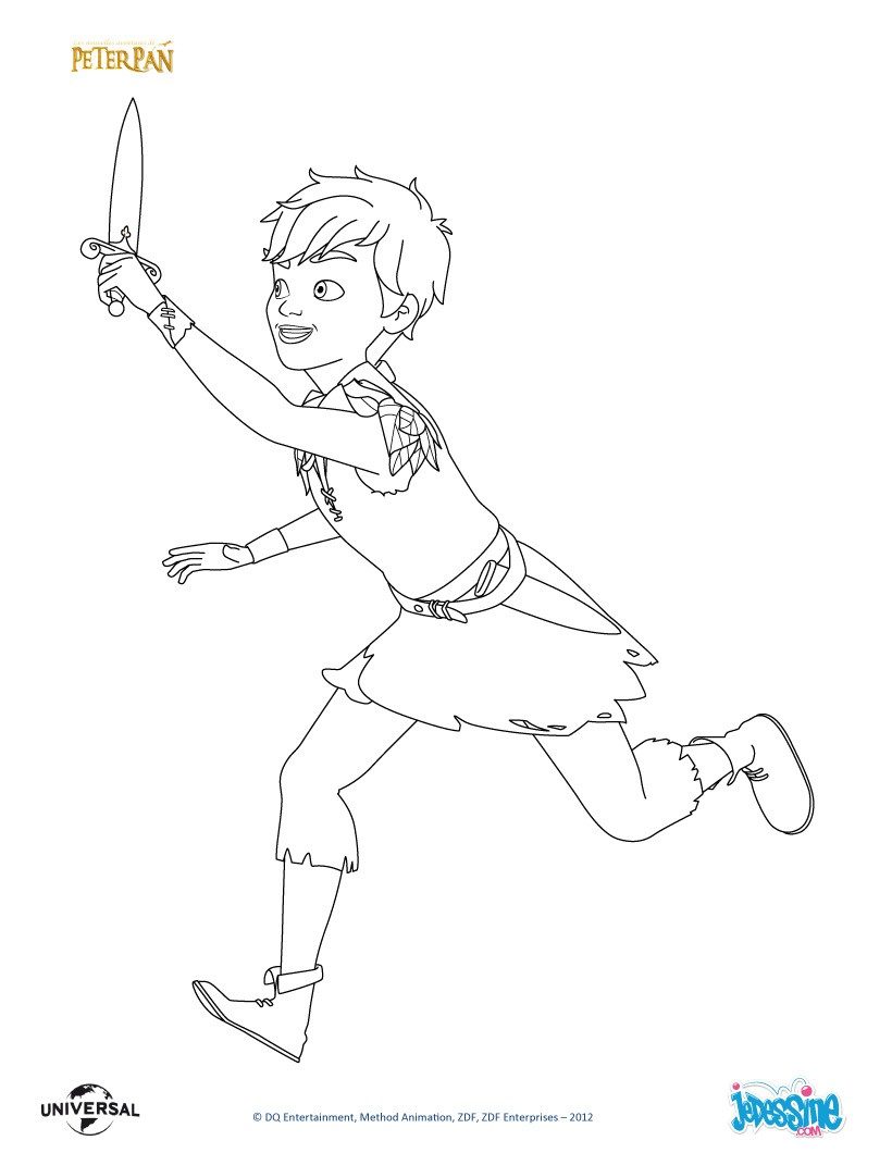 Coloriages peter pan et son p e - Coloriages peter pan ...