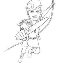 Coloriage gratuit PETER PAN - Coloriage - Coloriage DESSINS ANIMES - Coloriage PETER PAN