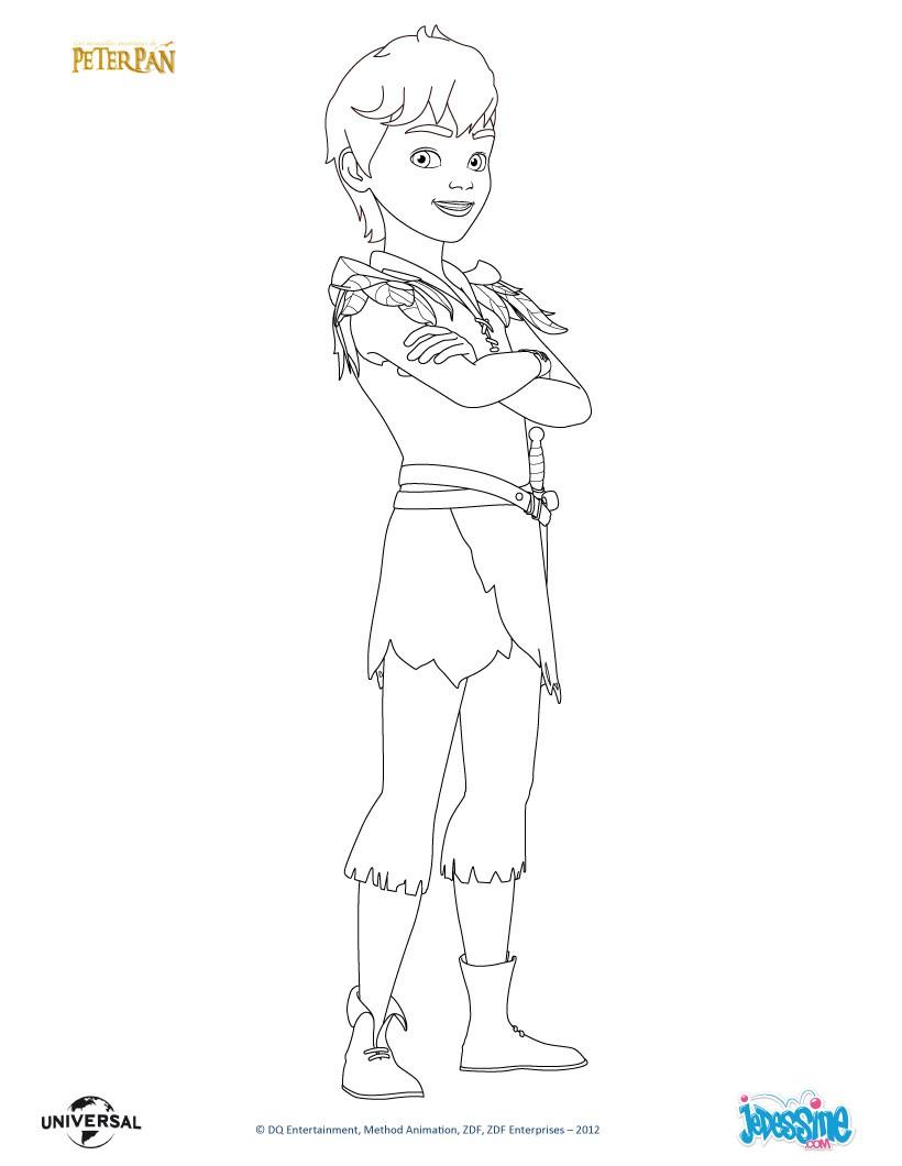 Coloriages coloriage en ligne peter pan - Peter pan dessin anime gratuit ...