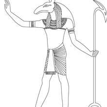 SETH  colorier - Coloriage - Coloriage HISTOIRE ET PAYS - Coloriage EGYPTE