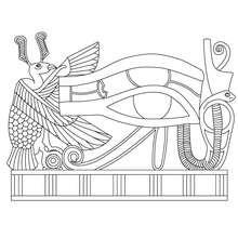 Coloriage : Oeil d'Horus