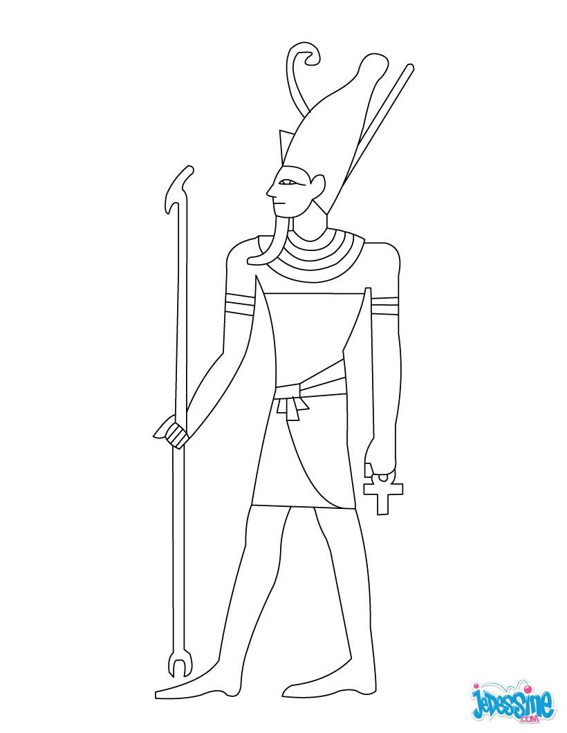Coloriage : Pharaon