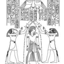 Coloriage : Papyrus Horus et Toth