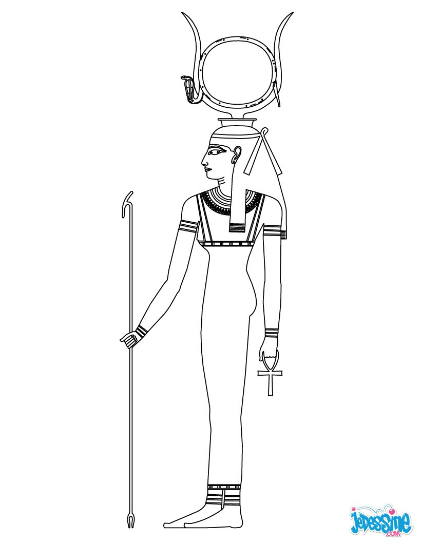 Coloriage : Hathor