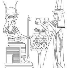 Coloriage : Isis et Nefertari
