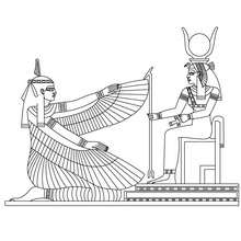 Coloriage : Maat et Isis
