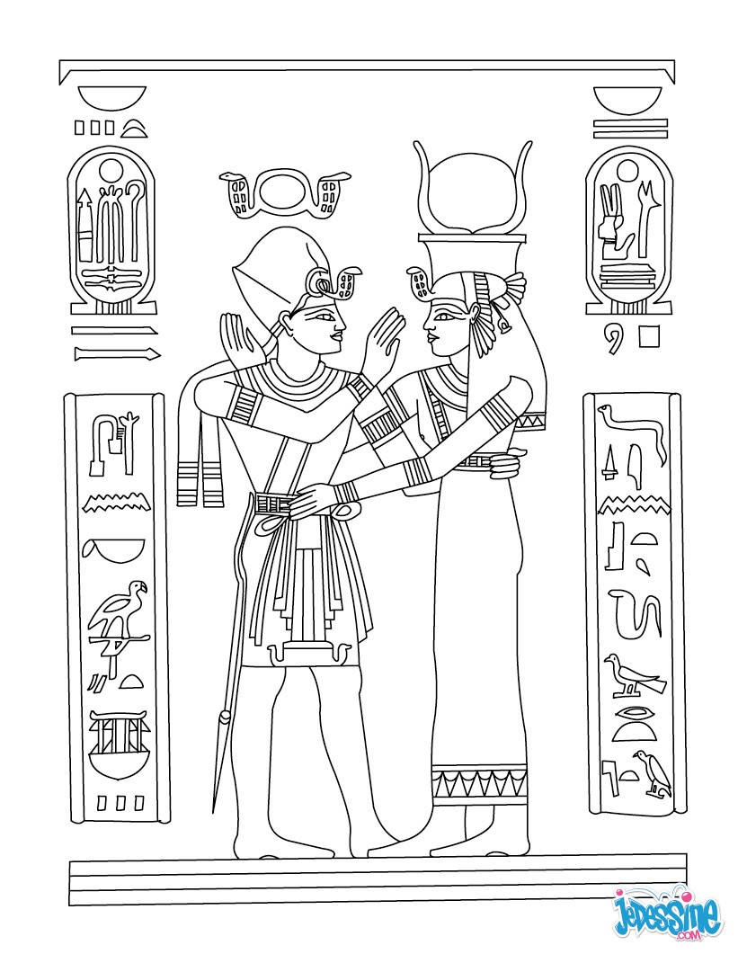 Coloriage : Papyrus Isis