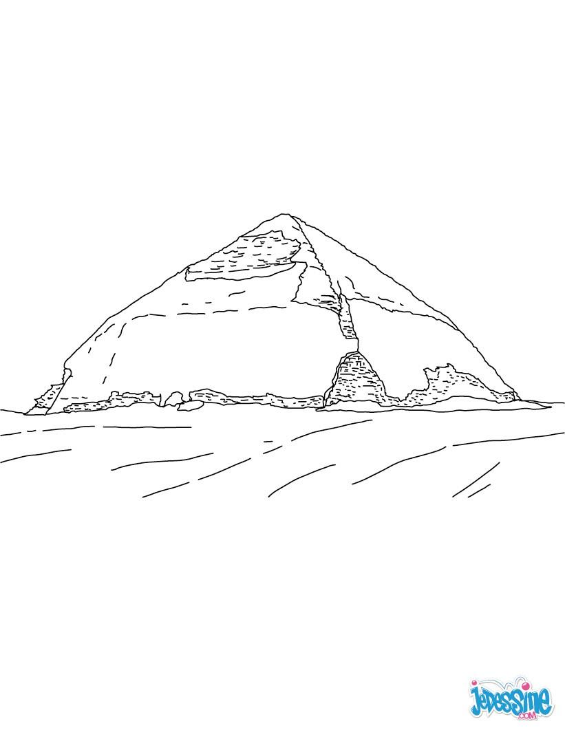 Coloriage : Pyramide Rhomboïdale