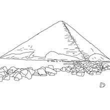 Coloriage : Pyramide rouge