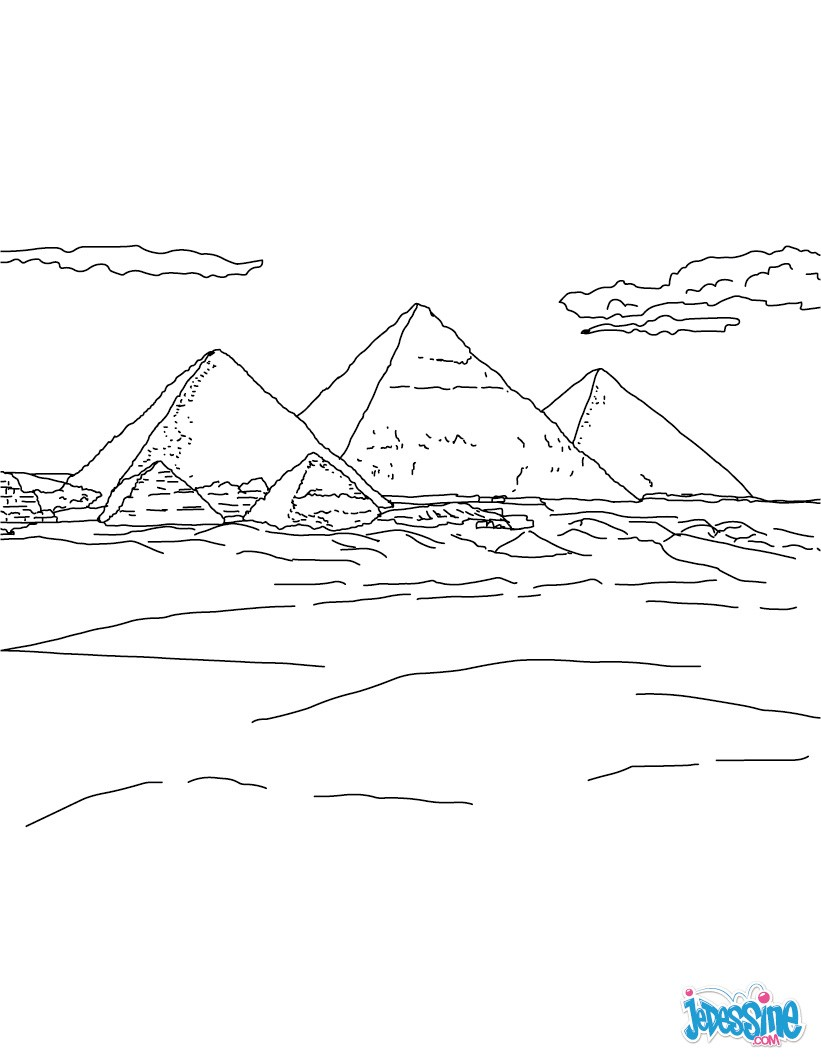 Coloriage : Pyramides de Gizeh
