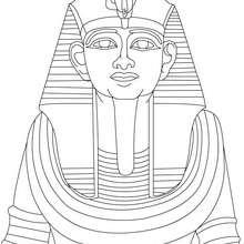 Coloriage : Ramsès II de face