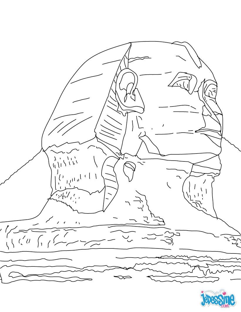 Coloriage : Sphinx de Gizeh
