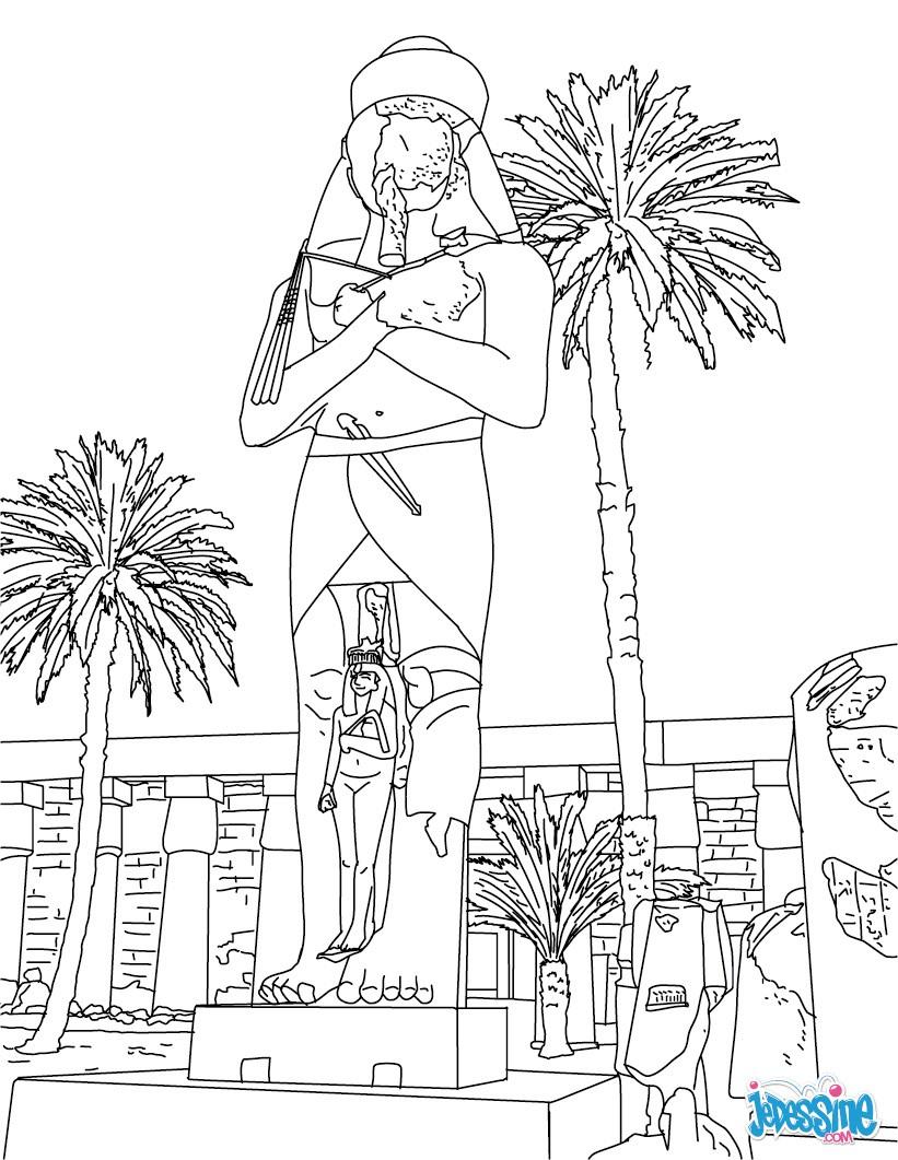 Coloriage : Statue de Ramsès II à Karnak