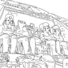 Coloriage : Temple d'Abou Simbel