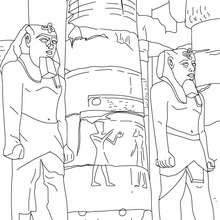 Coloriage : Temple d'Amon à Louxor
