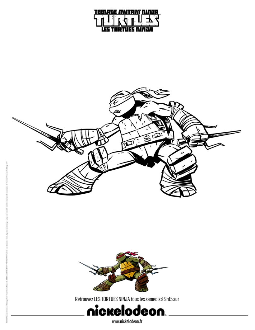 Coloriages coloriage raphael - Coloriages tortues ninja a imprimer ...