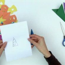 Faire un flocon de neige avec une feuille de papier