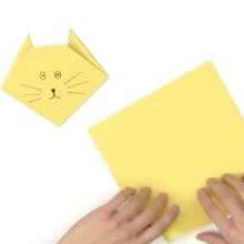 Origami : Faire un pliage de chat