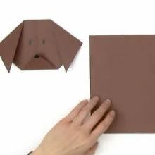 Faire un pliage de chien - Activités - ATELIER BRICOLAGE EN VIDEO - VIDEO BRICOLAGE PLIAGES