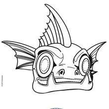 Masque à découper SKYLANDERS GILL GRUNT - Activités - BRICOLAGE FETES - BRICOLAGE CARNAVAL - Masques à découper et colorier pour le Carnaval