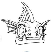 Masque à imprimer : Masque à découper SKYLANDERS GILL GRUNT