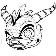 Masque à découper SKYLANDERS SPYRO - Activités - BRICOLAGE FETES - BRICOLAGE CARNAVAL - Masques à découper et colorier pour le Carnaval