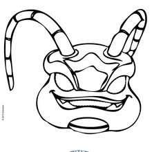 Masque à découper SKYLANDERS SWARM - Activités - BRICOLAGE FETES - BRICOLAGE CARNAVAL - Masques à découper et colorier pour le Carnaval