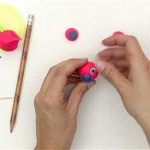 Tête de crayon ourson - Activités - ATELIER BRICOLAGE EN VIDEO - VIDEO BRICOLAGE RENTREE ECOLE