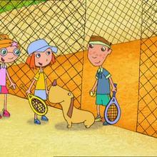 Episode de Lucie : Ramasser les balles de tennis, façon Lucie