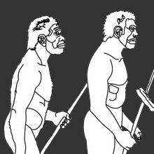 Coloriage HOMMES PREHISTORIQUES - Coloriage